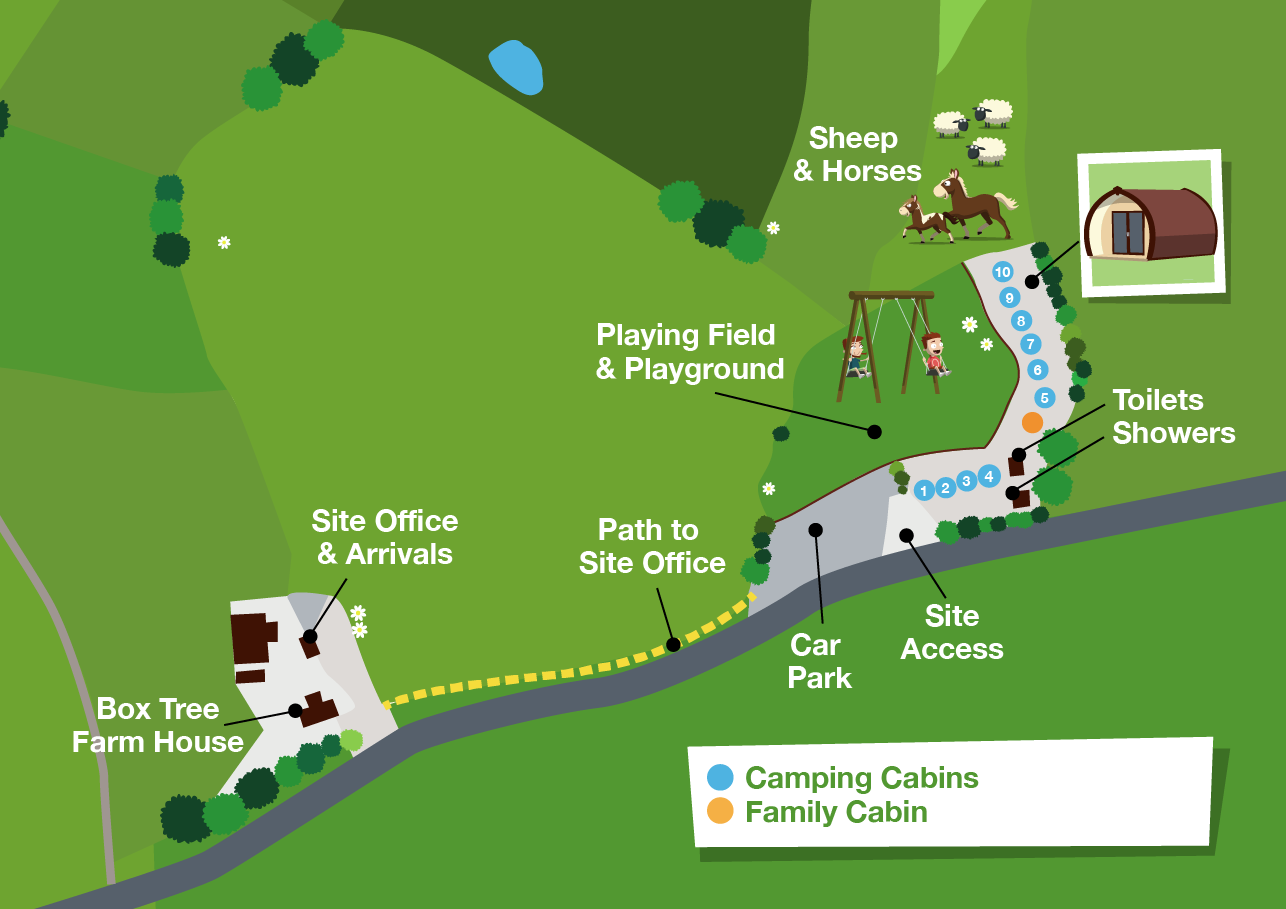 Map of Box Tree Farm